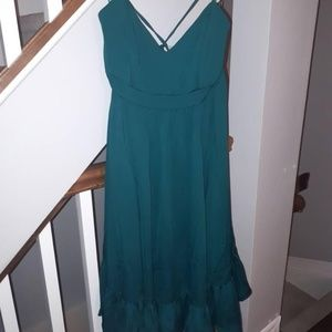 NWT 10 Petite Teal Bridesmaid Dress Strappy